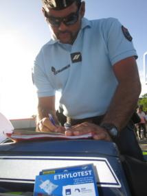 Sécurité routière : à Moorea aussi les gendarmes sont de sortie