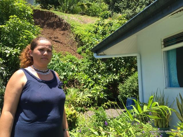 Depuis le 11 novembre dernier, 100 m3 de terre se retrouvent derrière la maison de Magalie