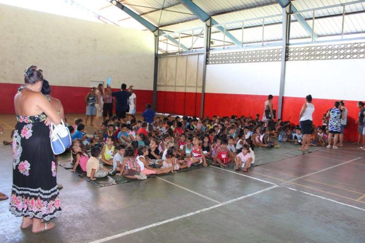 Sur Teva i Uta, les élèves seront redirigés dans la salle omnisports de Matairea