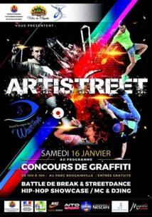 ARTISTREET : un concours de graffiti qui se tiendra ce samedi au parc Bougainville