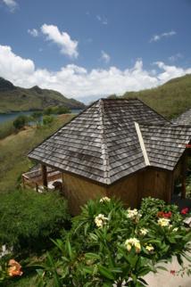 L'un des bungalows très cosy de l'hôtel Nuku Hiva Keikahanui Pearl Lodge.