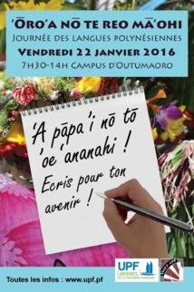 UPF : La septième édition de la journée polynésienne sera dédiée à l'écriture