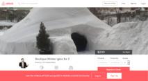 New York: après la tempête, un igloo proposé sur Airbnb
