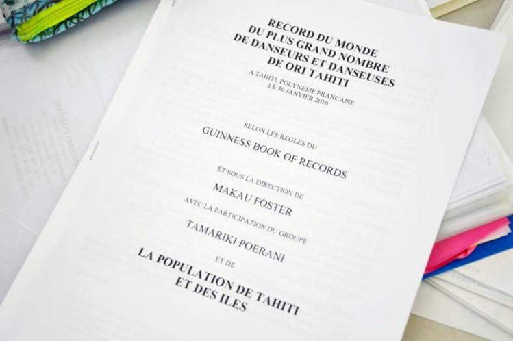 La performance sera validée par l'huissier Me Elie pour une entrée officielle dans le Livre Guinness des records.