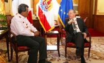 Le Président s'entretient avec le secrétaire général de la mer