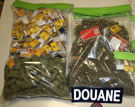 Au total un peu plus de 8 kilos d'herbe de cannabis ont été saisis. (Archives)