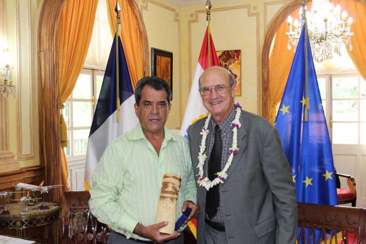Le président a reçu le porte-parole du gouvernement de la Nouvelle-Calédonie