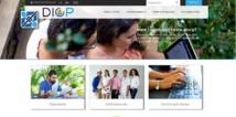 La nouvelle page d'accueil du site internet du service des impôts, la DICP. Le site est désormais plus interactif.