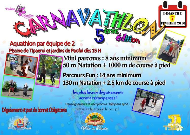 La 5ème édition du carnavathlon se tiendra ce dimanche