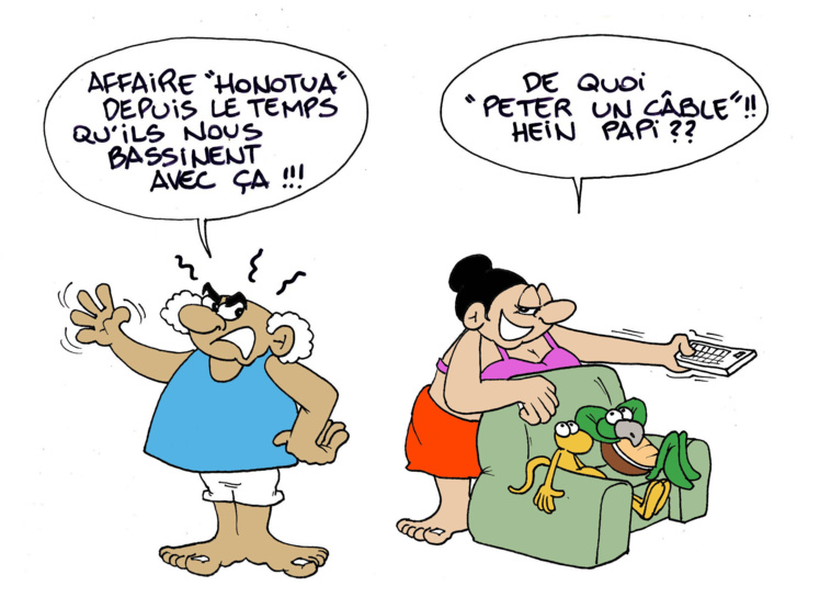 """""""Affaire Honotua"""" par Munoz"""