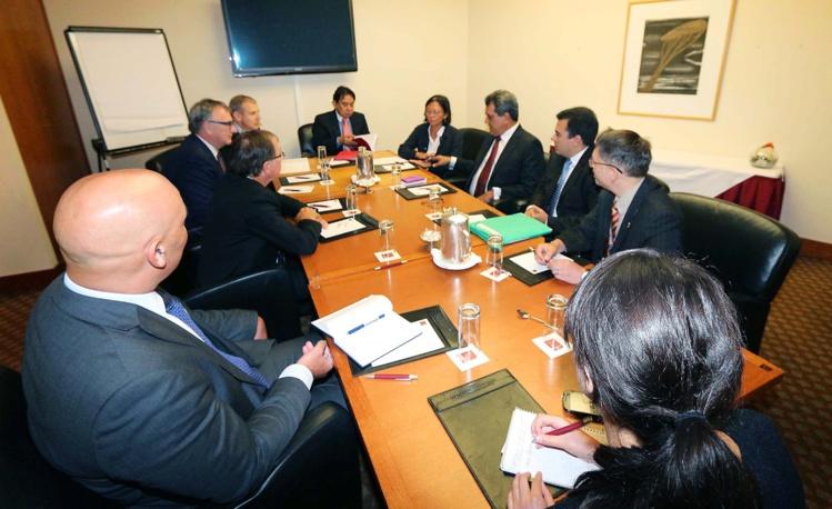 Edouard Fritch reçu par le ministre des Affaires étrangères néo-zélandais