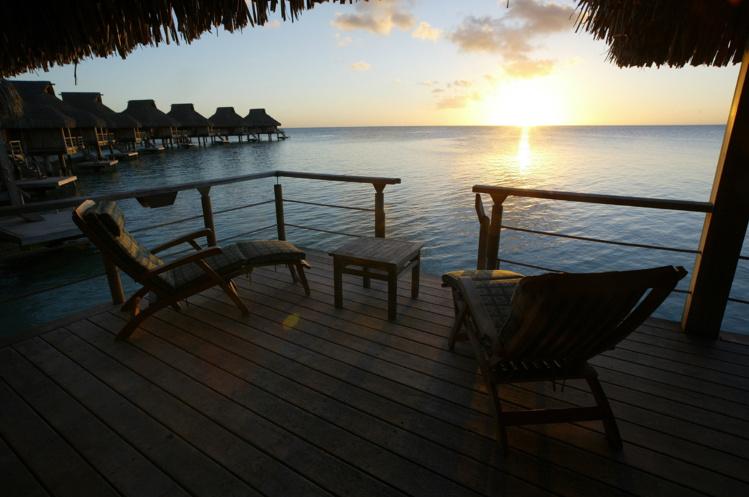 Bora Bora est très prisée par les touristes venus d'Amérique du Nord, qui représentent 42.9 % de part de marché. Photo : AFP