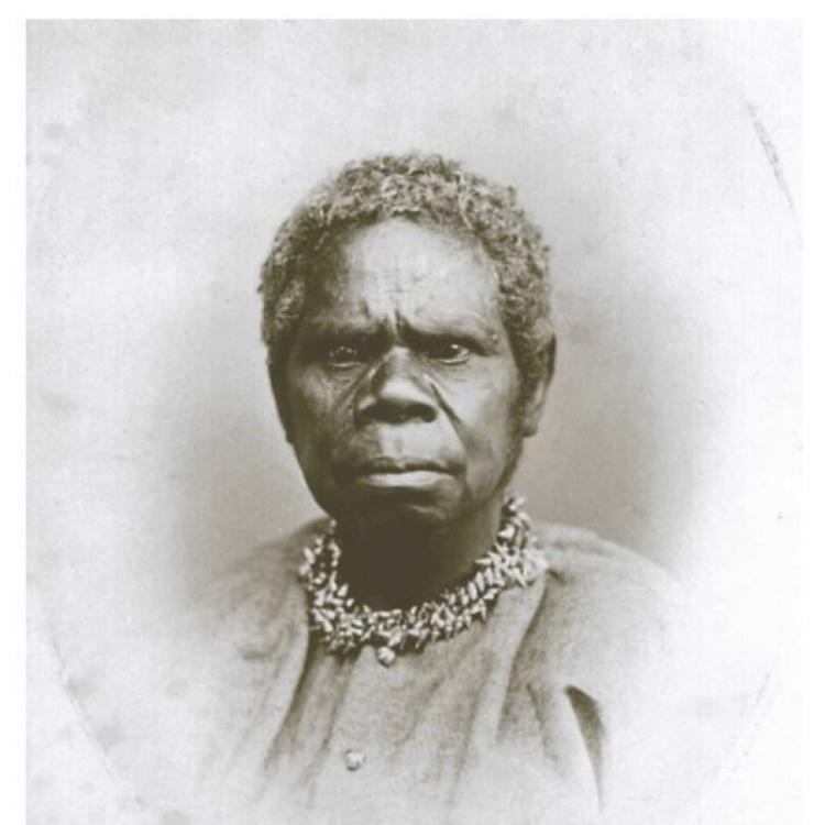 Le plus célèbre portrait de Truganini ; sa vie fut cauchemardesque et même dans la mort, les Blancs ne la respectèrent pas.