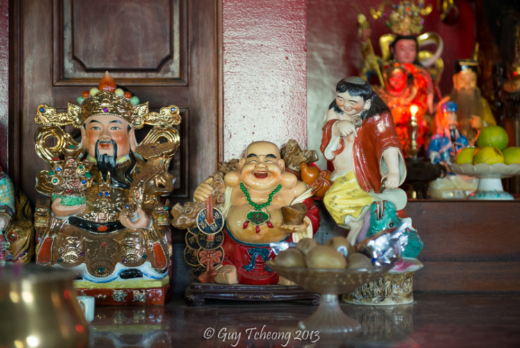 L'autel de Kwan Yin Yang. Photo Guy Tcheong