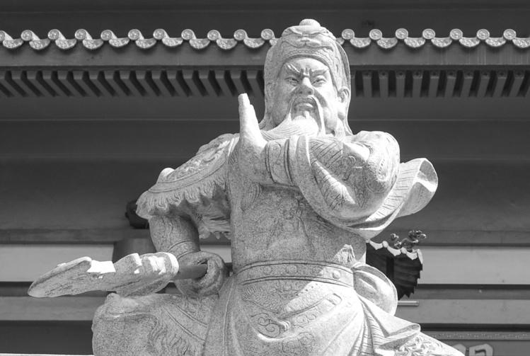 La statue de Kanti, le dieu de la guerre. Photo Olivier Babin