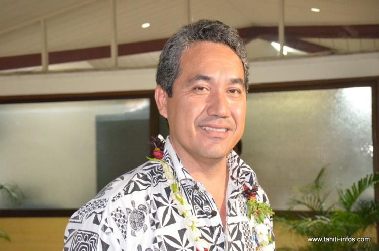 Marcel Tuihani, président de l'assemblée et président délégué du Tahoera'a Huiraatira.