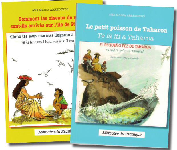 Cybèle Raybaud a assuré la traduction de l'espagnol en français. La traduction du français en reo maohi a été réalisée par Astrid Drollet professeur retraitée