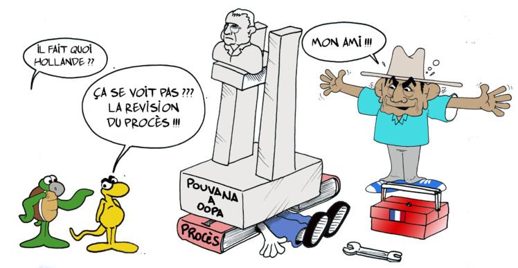 """Hollande et Pouvanaa a Oopa"" par Munoz"