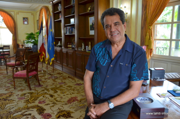 Edouard Fritch nous a reçu jeudi matin à la présidence pour évoquer son actualité politique à quelques jours de la visite officielle de François Hollande en Polynésie française.
