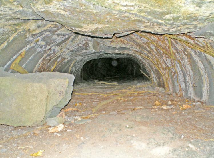 L'entrée de la grotte de Monoihere à Orofara a été coupée lors de l'agrandissement de la route de ceinture par l'Equipement sans aucun respect de l'histoire du fenua. Actuellement, derrière les branches d'un Tamanu, à cinq mètres de hauteur, on ne peut voir qu'un tunnel, un lavatube. Françis Sanford, qui a visité la grotte de Monoihere dans les années 1960, a parcouru 200 mètres sous terre, mais n'a pu aller plus loin car un rocher bloquait le passage. Il signale toutefois que la galerie qui s'apparente à un lavatube continue bien au delà.  Photo Tahiti Heritage