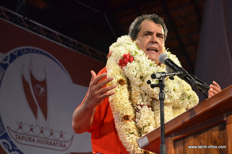 Le discours d'Edouard Fritch au congrès du Tapura Huiraatira