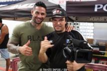 Dany Gérard avec Tamatoa Tefau journaliste sportif et spécialiste des arts martiaux
