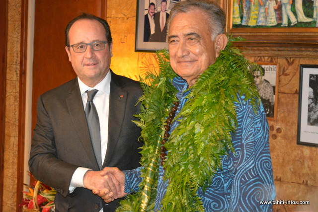 "Visite Hollande à Faaa : ""J'ai reçu un ami avant tout"" (Oscar Temaru)"