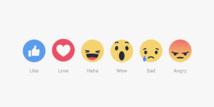 """""""Wouah"""", """"Grrr"""" et """"Haha"""", Facebook ajoute 5 boutons pour réagir aux publications"""
