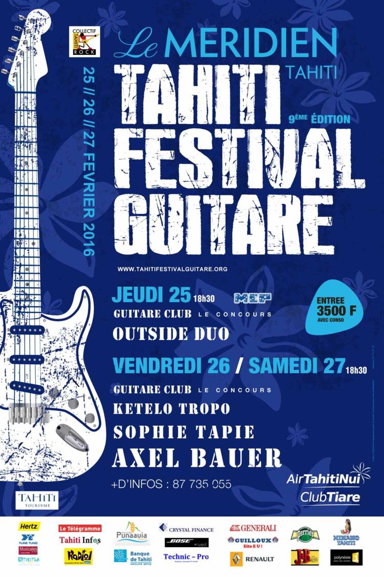 Tahiti Festival Guitare : les artistes offrent un avant-goût de la fête au lycée hôtelier de Punaauia