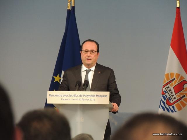 Te mau tāmatamatara'a 'ātōmī, tumu parau rahi i roto i te 'ōrerora'a a François Hollande
