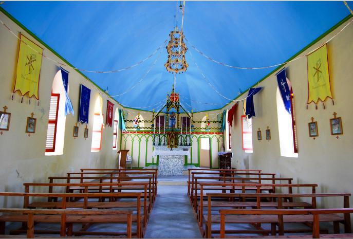 Eglise Maria O Te Hau de Tetamanu à Fakarava, Tuamotu