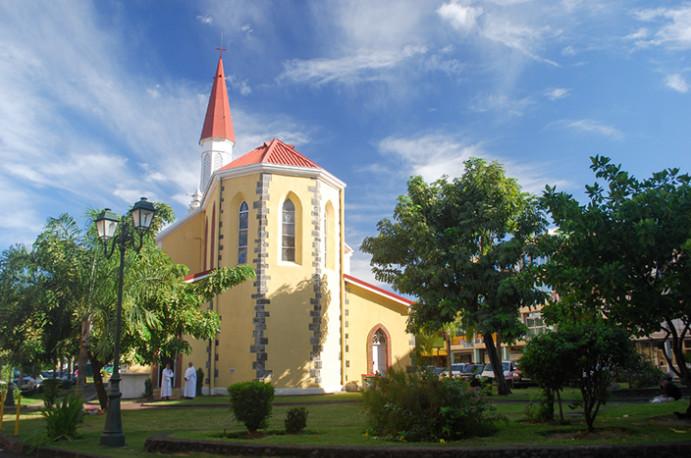 Arrière de la cathédrale de Papeete, Tahiti