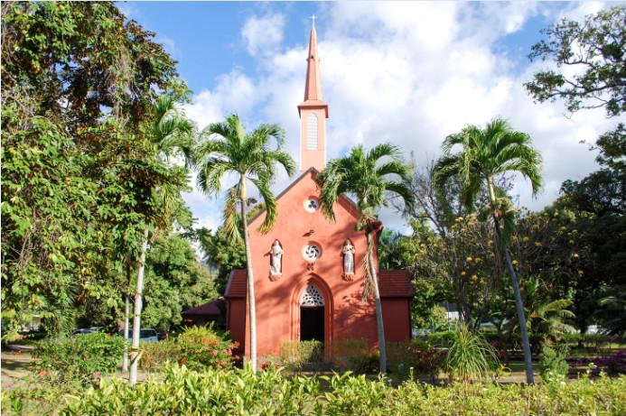 Chapelle épiscopale du Sacré-Cœur, à l'évêché de Papeete, Tahiti