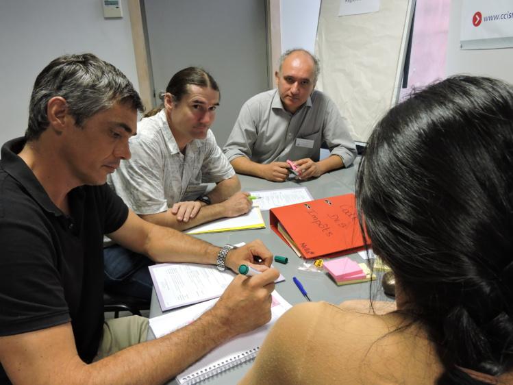 Mardi matin, les représentants des huit sociétés adhérant au club des entreprises polynésiennes éco-responsables ont planché sur la règlementation, le marketing, le développement durable et la formation.