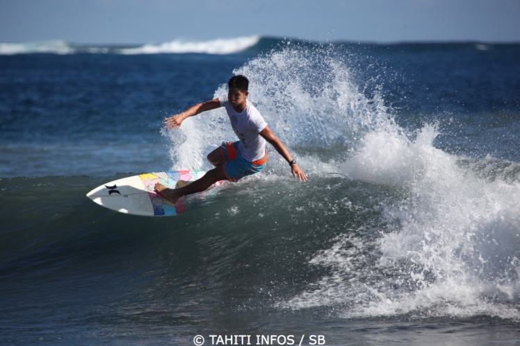 Keoni Yan, actuel n°1 de la Région Polynesia grâce à sa victoire à Sunset