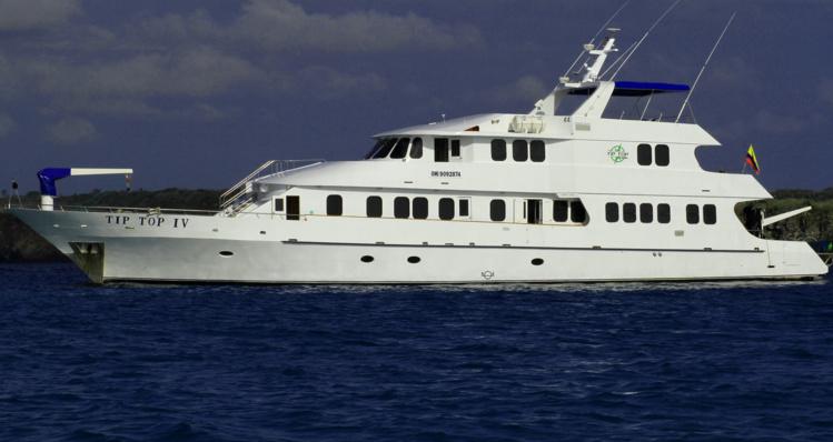 """Voici le """"Tip Top IV"""", dernier né et fleuron de la flotte de yachts de luxe de la famille Wittmer, aux Galapagos. Si vous rêvez de vacances de milliardaires..."""