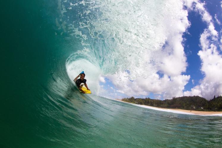 Angelo Faraire est un 'big wave rider'. Il est très bon techniquement