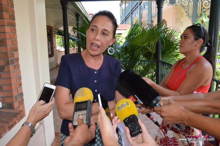 Tea Frogier s'est exprimée devant la presse lundi après-midi alors que le Conseil d'Etat venait de rendre quelques heures plus tôt à Paris une décision invalidant son arrêté de nomination au sein du gouvernement Fritch.