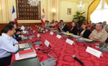 La délégation sénatoriale en mission sur le foncier dans les Outre-mer rencontre le gouvernement polynésien.