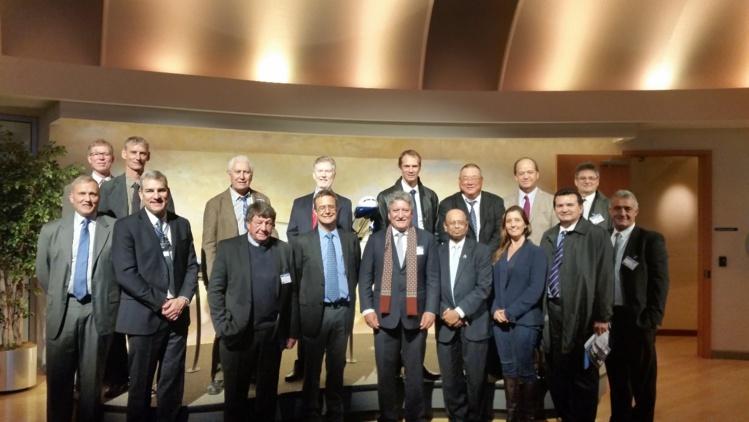 La délégation polynésienne avec Dinesh Keskar, Vice-Président de Boeing, et ses directeurs techniques.