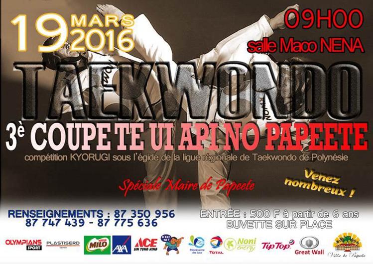 Taekwondo : Te Ui Api no Papeete organise sa troisième coupe ce samedi!