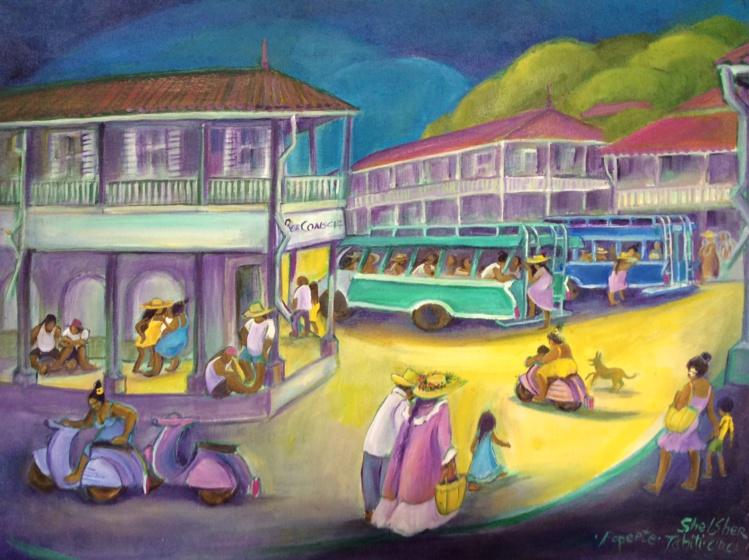 Les scènes du quotidien mettant en lumière le mode de vie local sont la patte de l'artiste.