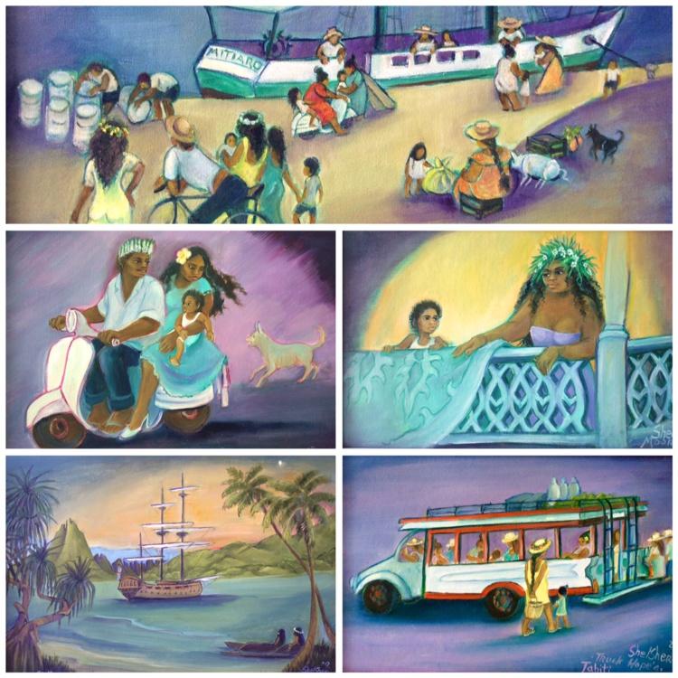 "Le ""tahitian way of life"" inspire Jean Shelsher"