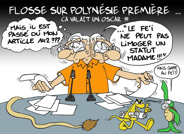 """""""Le statut Flosse"""" par Munoz"""