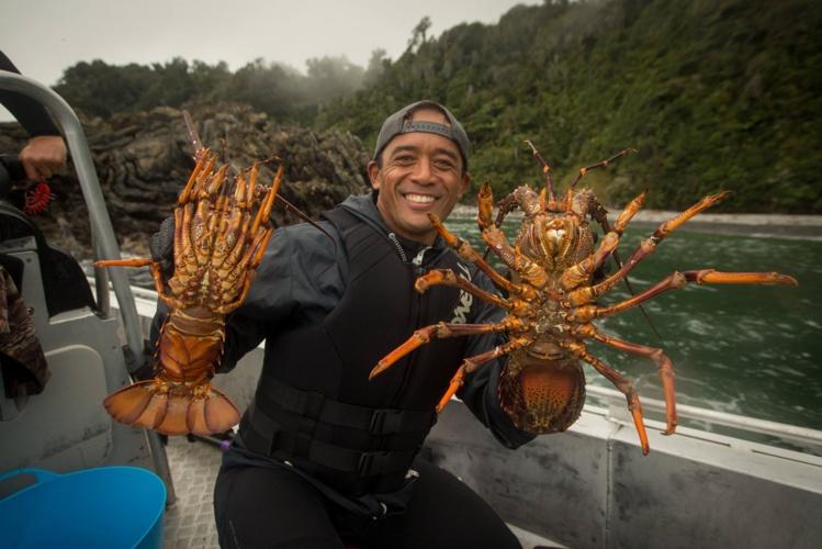 Pendant deux jours Greg Townsend a pu faire découvrir sa région, ici Kaleo un des Hawaiiens de la water patrol © Scott Sinton