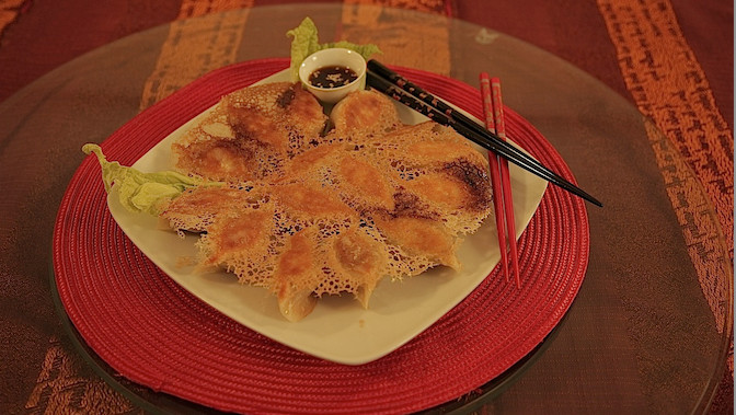 Délicieux raviolis chinois