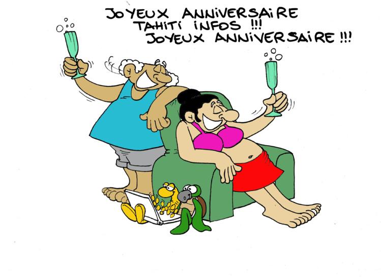 """Joyeux anniversaire Tahiti Infos"" par Munoz"