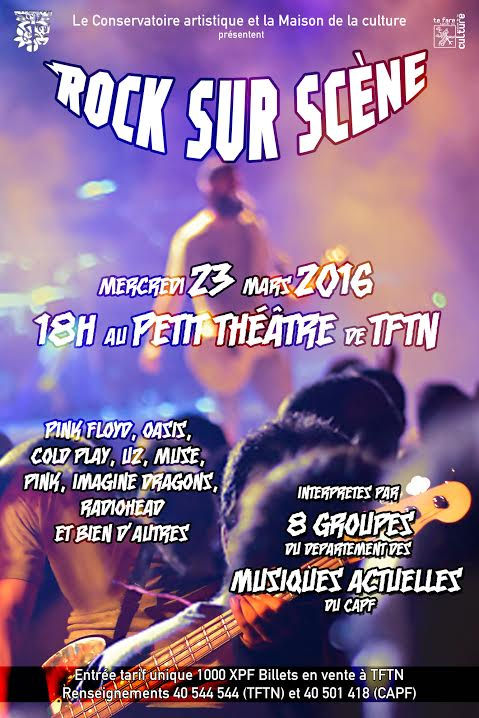 """""""Rock sur scène"""" : un concert inédit avec huit groupes issus du Conservatoire"""