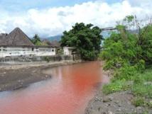 Vendredi dernier, à l'heure du déjeuner, l'embouchure de la Tipaerui était toute rouge. Des témoins auraient vu un petit camion citerne blanc verser son contenu dans la rivière. Le produit s'est dilué assez rapidement et n'a pas causé de surmortalité des poissons selon la Direction de l'environnement
