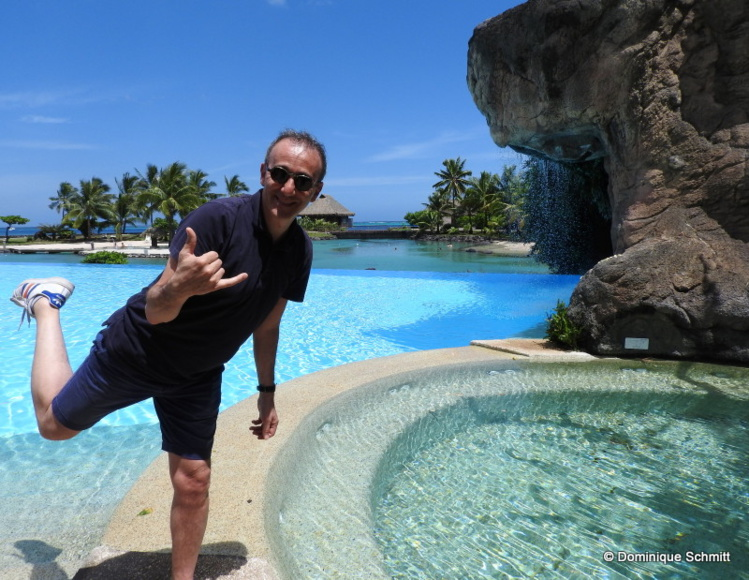 Passionné de plongée et nature, Élie Semoun compte profiter pleinement de son séjour en Polynésie !
